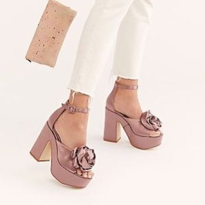 Jeffrey Campbell Rose Pink Candice Rosette Heels